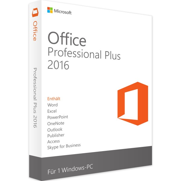Microsoft Office 2016 Professional Plus | für Windows