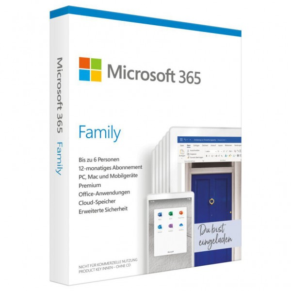 Microsoft Office 365 Family Windows / Mac-6 Nutzer