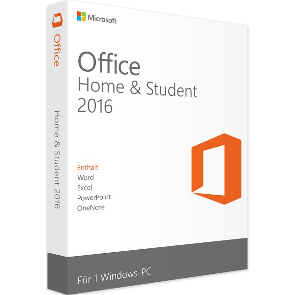 Microsoft Office 2016 Home and Student | für Windows